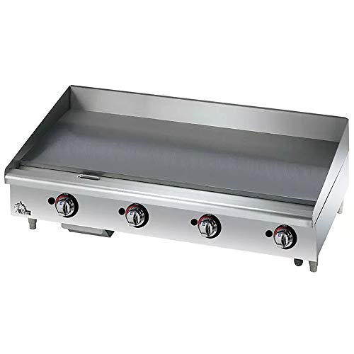 "Commercial Griddle - Gas,Thermostat Controls 48""W"