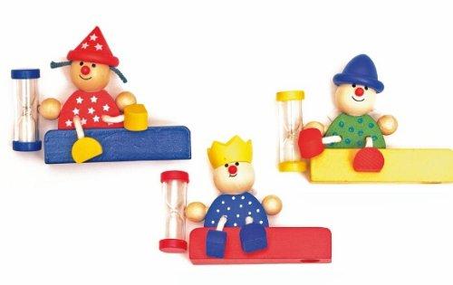 alles-meine.de GmbH Zahnputzuhr Zahnbürstenhalter mit Sanduhr Holz Woody Woody Kinderland