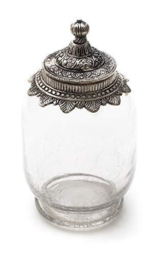 DARO DEKO Glas mit Metalldeckel Größe L 22cm - 1 Stück