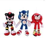 3 Unids / Set Sonic Y Miles Prower Tails Juguetes De Peluche Muñecos De Peluche Un Regalo De Cumplea...