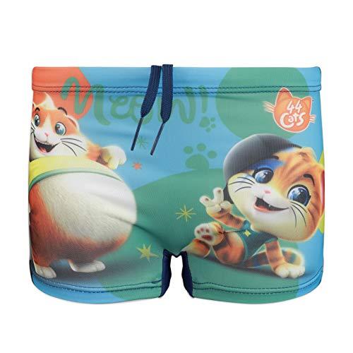 44 gatos – Niño – Disfraz de bóxer – Pelele para playa o piscina – Producto original con licencia oficial