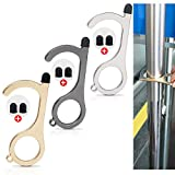 No-Touch-Door Opener Keychain-Tool Button Pusher - YBP Safety Without Getting Germs Contactless Clean Key,Smart Key Hands Free-3Pack