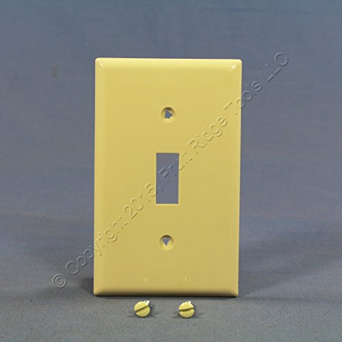 Cooper Wiring Devices EABP5134V Ivory Cooper Wiring-Eagle BP5134V 1 Gang Switch Plate44 Pack of 5