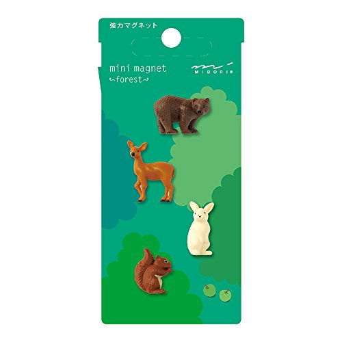 Midori Mini Magnet, Forest Animals (49758006), Assorted