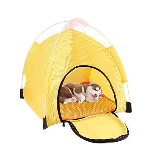 Katzenzelt Outdoor Hundezelt Hunde Tipi Pop Up Hundezelt Hundeschatten Im Freien Katzenzelte Für Hauskatzen Faltbares Katzenbett Indoor Hundehütte Yellow