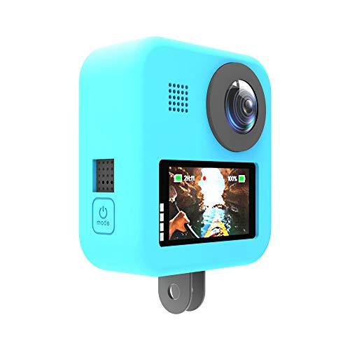 ANYIKE Étui de Protection en Silicone pour caméra GoPro Max Action 6 Couleurs, PMC46LE2CG653829PC16EL, Bleu