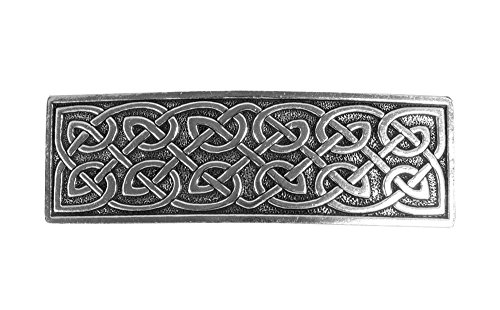Large Celtic Hair Clip, Large Hand Crafted Metal Barrette Made in the USA with an 80mm Imported French Clip by Oberon Design