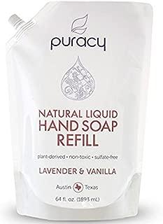 Puracy Natural Liquid Gel Hand Soap Refill, Lavender & Vanilla, Sulfate-Free Hand Wash, 64 Ounce