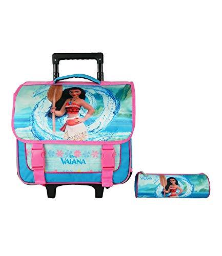 Bagtrotter Vaiana - Bagaglio per bambini, 38 cm, colore: blu/rosa