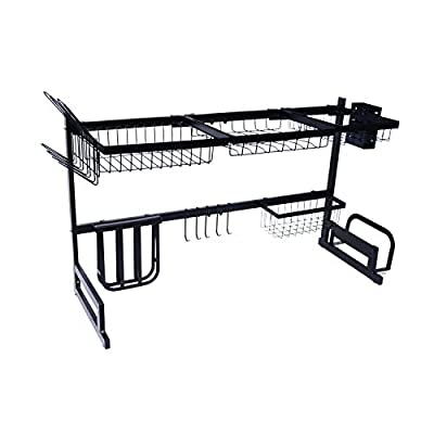 AKOZLIN Over Sink Dish Rack ?Sink Size ? 39''? Stainless Steel Drainer Rack Width Adjustable Kitchen Shelves Sink Drip Bracket by AKOZLIN