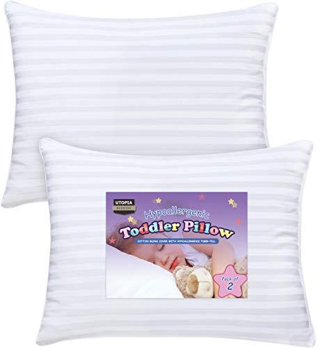"""Utopia Bedding Cuscino Per Bambino (Set di 2) - 33 x 45 cm Cuscini Per Bambini con 100{f8d964e14f961a218940c7b629bc24822d88af8ad380e7c0462e4d2d66854351} Cotone Copri - Lavabile in lavatrice e Traspirante (13\"""" x 18\"""")"""