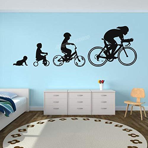 Pegatinas de pared de bicicletas creativas pegatinas de vinilo bicicleta revolución pegatinas de pared de bicicletas niños deportes niños adolescentes decoración de la habitación