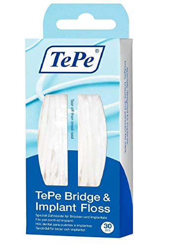 2 TePe Bridge & Implant Floss je 30 Stück