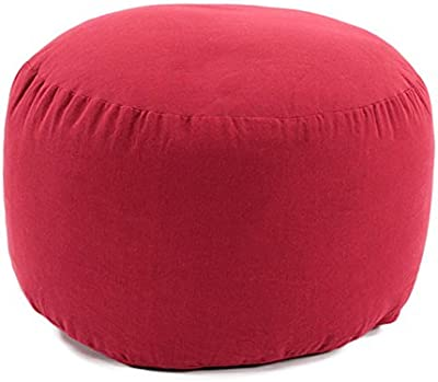 Thedecofactory 50515 Pouffe Polyester 30 x 50 x 3 cm Red