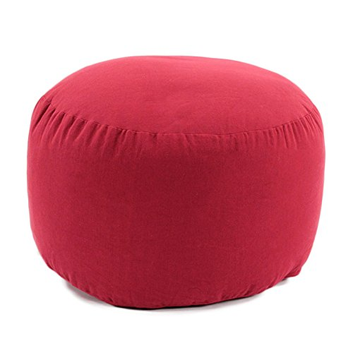 Thedecofactory 50515 Pouf, Polyester, Rouge, 30 x 50 x 3 cm