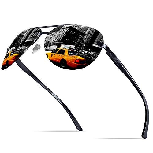 KITHDIA Klassik Polarisiert Sonnenbrille Herren Aluminium Magnesium Metallrahmen S143