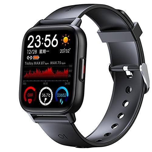 APCHY Reloj Inteligente Smartwatch Los Hombres,Rastreador De Fitness De 1.69 Pulgadas Pantalla 25 Modos De Deporte Tasa De Corazón Sueño Seguimiento Monitoreo Bluetooth Pulsera con Monitoreo,Negro