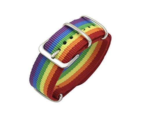 Patch Nation Gay Pride Lesbische Regenboog LGBT Vlag Gesp Stof Polsband Armband