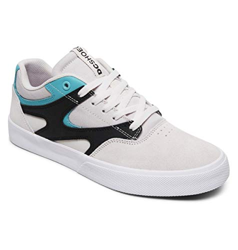 DC Shoes Herren Kalis Vulc Skateboardschuhe, Grey Black White, 42 EU
