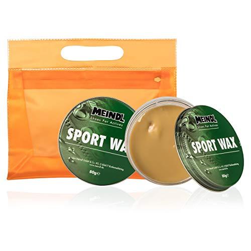 Meindl Sportwax XXL, 2X 80 g Lederpflege Schuh-Pflege für alle Lederschuhe und Stiefel + KULTURBEUTEL