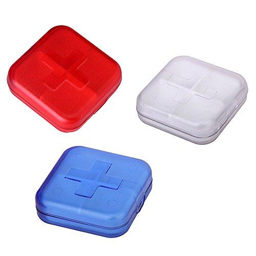 TOOGOO Pastillero con 4 compartimentos - Color aleatorio