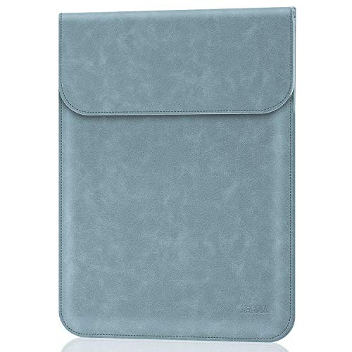 TECOOL 13-13.3 Zoll Laptop Hülle Tasche, Faux Wildleder Leder Schutzhülle für 2010-2017 MacBook Air 13 A1466/A1369 2012-2015 MacBook Pro 13 A1502/A1425, Huawei Matebook X Pro,Dunst Blau