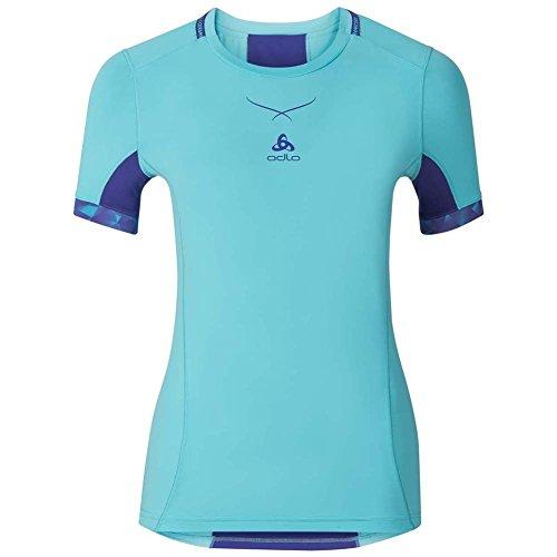 Odlo Ceramicool T-Shirt - Femme - Bleu (Bleu) - FR : M (Taille Fabricant : M)