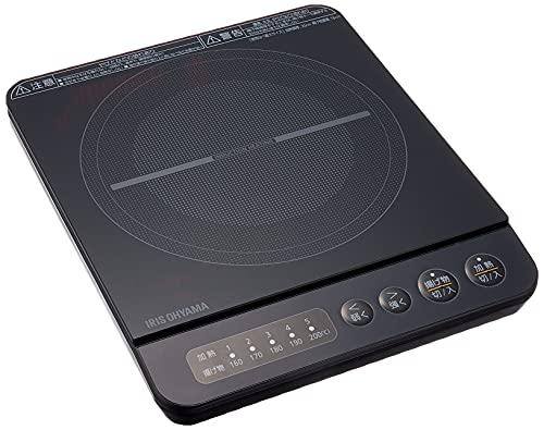 アイリスオーヤマ IHコンロ IHクッキングヒーター 1000W 卓上 デザイン IHK-T38-B ブラック