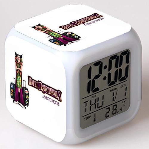 Wizard Hostel Alarm Clocks Kids LED Clock Cartoon Night Light Flash 7 Color Changing Digital Clock Electronic Desk Clock,Style 47, Birthday
