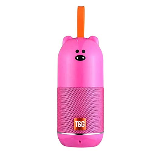 Altavoz Bluetooth inalámbricoTG502 Oso Rosa portatil niños Audio HD Exterior Musica