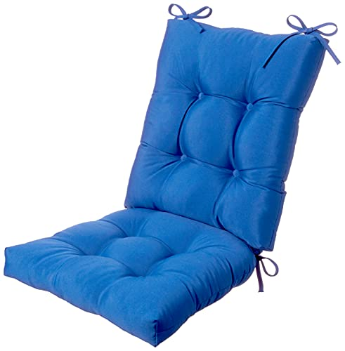 Klear Vu Solarium Indoor/Outdoor Rocking Chair Pad Seat and Seatback Cushion Set, Blue