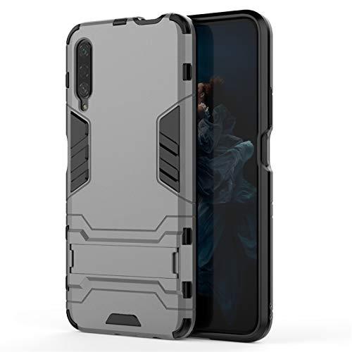 Xyamzhnn Cas de téléphone pour Huawei Honor 9X / Honor 9X (sans Trou d'empreinte Digitale) Pro PC + TPU Cas de Protection avec Support Invisible (Color : Grey)