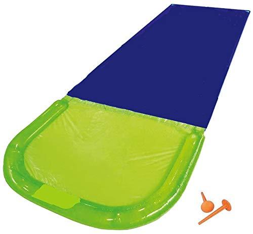 Wasserrutsche Rutschmatte Wasserrutschbahn Rutsche Wassermatte Wasser Spielzeug Outdoor Wasserspielzeug für Garten Rasen und Kinder 480 x 70 cm Groß ab 3 Jahre mit Wasserball