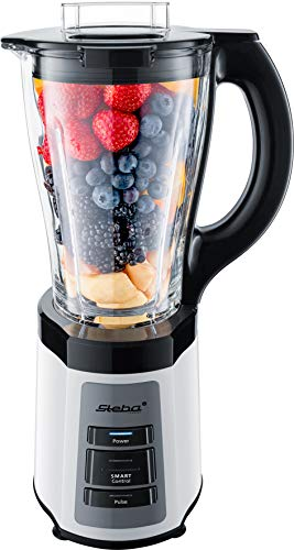 Steba Standmixer MX 600 Smart | Intelligenter Mixvorgang durch innovative Smart-Control Technologie | Gerät erkennt Inhalt des Behälters (z. B. Bananen oder Äpfel) | Glasbehälter mit 1,75 l Volumen