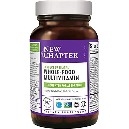 New Chapter Perfect Prenatal Vitamins - 192ct, Organic Prenatal...