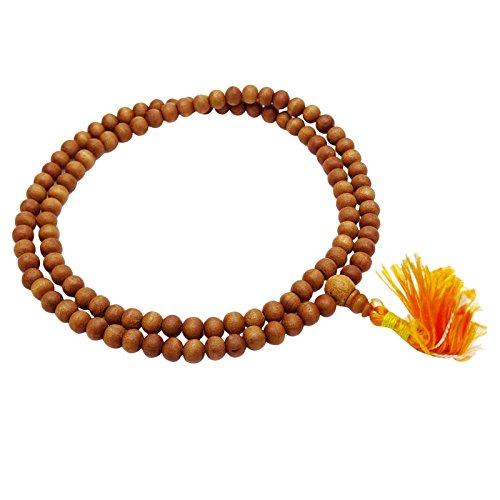 Indianbeautifulart Braunes Rosenkranz-Holz Japa Mala Indische Palisander-Gebet-Korne