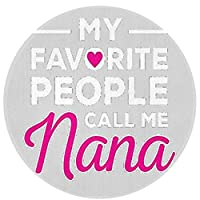 My Favorite People Call Me Nana 滑り止め丸い玄関マット60 As Shown One Size