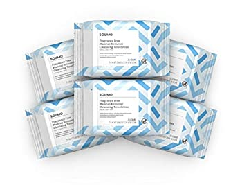 Solimo Make Up Remover Wipes Fragrance Free 25ct  Pack of 6