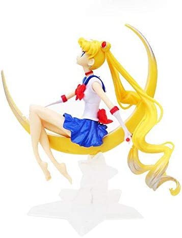 12cm Sitting Sailor Moon Cake Toppers Anime Elegant Tsukino Usagi Princess Collectible Resin product image