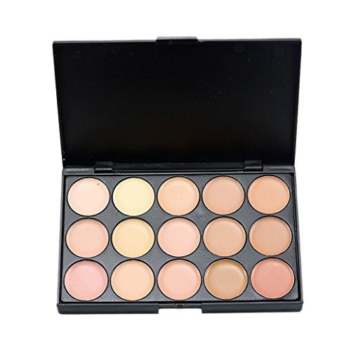 Perfeclan Palette Fond de Teint Crème 15 Couleurs Chaude Correcteur Contours Palette pour Maquillage Idéal Cadeau - # 2, Taille réelle