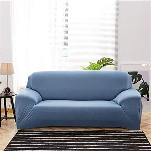 XCVBSofa-hoes voor woonkamer All-inclusive sectionele bankhoes Stoel Meubelbeschermer Moderne elastische bank Kussenovertrekken Spandex, lichtblauw