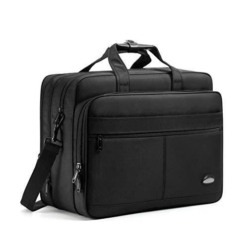 18-19 inch Laptop Bag,Water Resisatant Business Laptop Briefcase,Expandable High Capacity Shoulder Bag,Nylon Multi-Functional Shoulder Messenger Bag for Men Fits 17.3 inch Loptop,Computer,Tablet