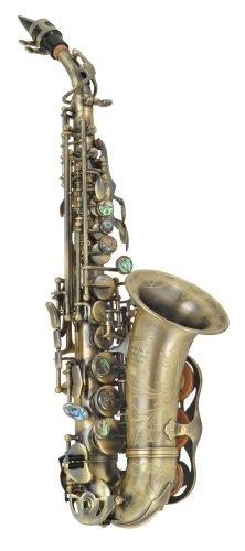 P. Mauriat 2400 - Saxofón soprano curvado, diseño vintage oscuro