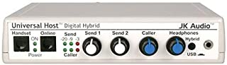 JK Audio Universal Host Desktop Digital Hybrid Telephone Interface, 16-bit USB Audio Codec, 48kHz Sampling, Works with IP and PBX Telephones