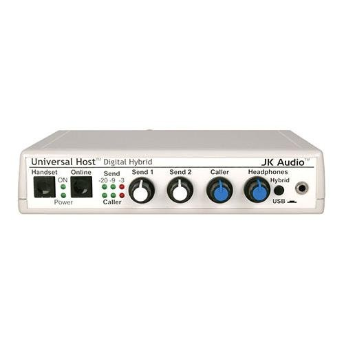 JK Audio Universal Host Desktop Digital Hybrid Telephone Interface, 16-bit USB Audio Codec, 48kHz Sampling, Works with IP and PBX Telephones