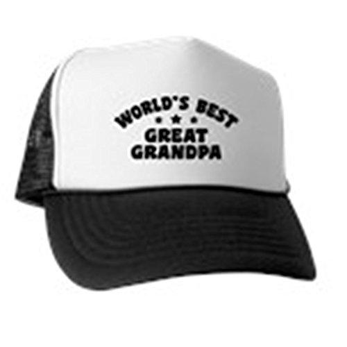 CafePress World's Best Great Grandpa Trucker Hat, Classic Baseball Hat, Unique Trucker Cap Black/White