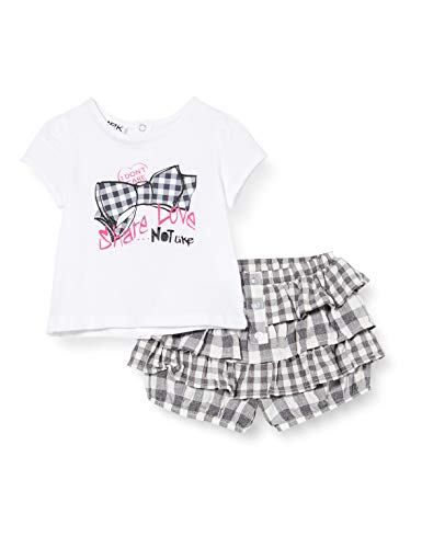 MEK Compl.t-Shirt + Bloomer Vichy Conjunto de Ropa para Bebés