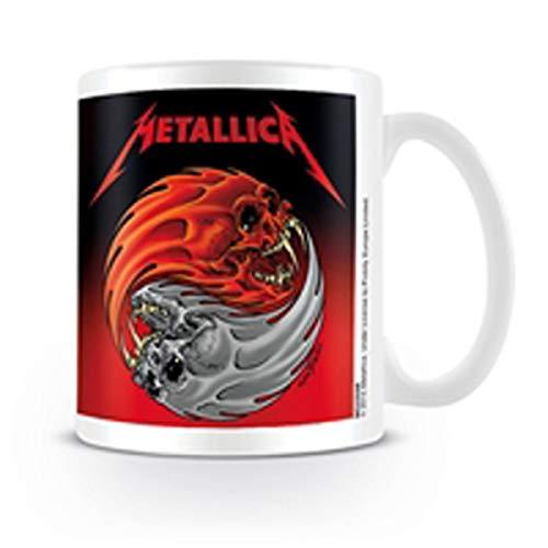 Pyramid International Metallica (Yin & Yang) Keramikbecher, Keramik, Mehrfarbig, 8.5 x 12 x 10.5 cm
