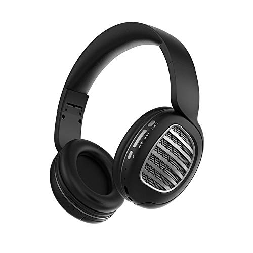 SFBBBO Headset Wireless Bluetooth Headset Bluetooth 5.0 Headset Stereo Gaming Headset with Microphone Blacksilver