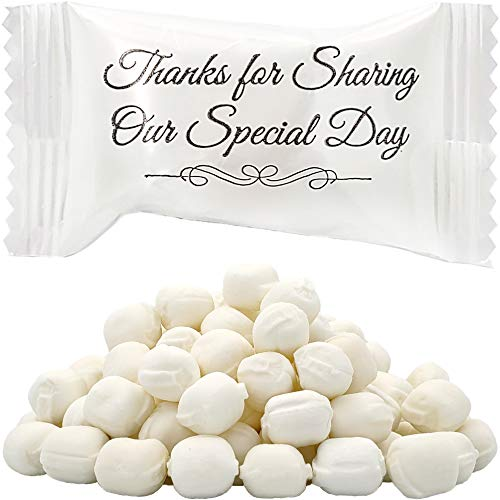 Wedding Buttermints, Mint Candies, After Dinner Mints, Butter Mint Candy, Fat-Free, Individually Wrapped (330 Pieces)